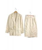 ()の古着「[OLD]リネン混タイトスカートセットアップスーツ」 ベージュ