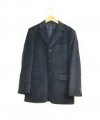 PAUL SMITH(ポールスミス)の古着「アンゴラウール3Bジャケット」 ブラック