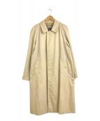 ()の古着「英国製ステンカラーコート」 ベージュ
