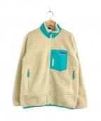 Patagonia(パタゴニア)の古着「レトロXフリースジャケット」 ナチュラル×ターコイズ