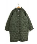 ()の古着「2wayキルティングフードコート」 カーキ