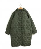 AZUL ENCANTO(アズールエンカント)の古着「2wayキルティングフードコート」 カーキ