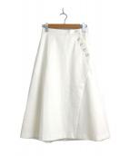 ()の古着「ラップ風ジャージースカート」 ホワイト
