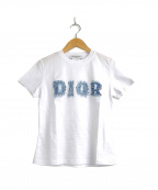 Christian Dior(クリスチャン ディオール)の古着「[OLD]デニムロゴプリントTシャツ」 ホワイト