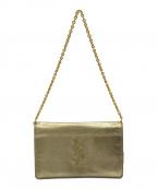 Yves Saint Laurent()の古着「チェーンショルダークラッチバッグ」|ゴールド