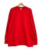 SUPREME(シュプリーム)の古着「ロングスリーブプリントTシャツ」 レッド