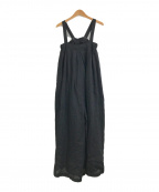 TODAYFUL(トゥデイフル)の古着「リネンワイドサロペット」|ブラック