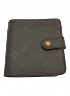 LOUIS VUITTON(ルイ ヴィトン)の古着「財布 / コンパクト・ジップ ミニウォレット」|ブラウン