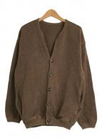 ()の古着「モススティッチカーディガン」|ブラウン