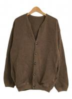 crepuscule(クレプスキュール)の古着「モススティッチカーディガン」|ブラウン