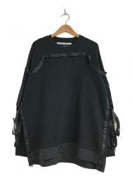 WHITE MOUNTAINEERING (ホワイトマウンテ二アニング) テープドスウェットシャツ ブラック サイズ:2