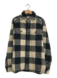 Toujours (トゥジュー) CPOシャツジャケット ホワイト×ブラック サイズ:不明
