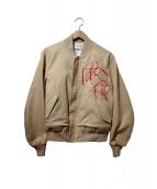 NAIFE(ナイフ)の古着「Embroidery MA-1」 ベージュ