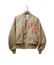NAIFE(ナイフ)の古着「Embroidery MA-1」|ベージュ