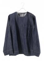 SOFIE DHOORE(ソフィードール)の古着「ショルダーボタンクルーネック」