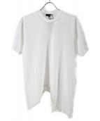 COMME des GARCONS HommePlus(コム デ ギャルソン・オム プリュス)の古着「炙り加工カットソー」|ホワイト