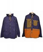 JUNYA WATANABE CdG MAN PINK(ジュンヤワタナベ コムデギャルソン マン ピンク)の古着「綿ウェザーパラフィンパーカーシャツジャケット」|ベージュ×パープル