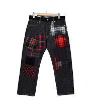 JUNYA WATANABE COMME des GARCONS MAN×THE NORTH FAC(ジュンヤワタナベ コムデギャルソン マン)の古着「Patchwork 9/L Denim Pants」 インディゴ