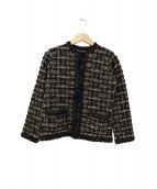 CELFORD(セルフォード)の古着「ツイードニットジャケット」|ブラウン