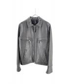 INTERMEZZO(インターメッツォ)の古着「ラムレザージャケット」|ブラック