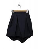 YOKO CHAN(ヨーコチャン)の古着「ボンディングスカート」|ネイビー