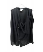 Yohji Yamamoto(ヨウジヤマモト)の古着「ノースリーブブラウス」
