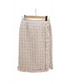 CELFORD(セルフォード)の古着「ファンシーツイードスカート」|アイボリー