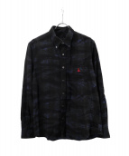 SOPHNET.(ソフネット)の古着「CAMOUFLAGE FLANNEL CHECK B.D S」|ネイビー