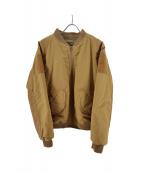 BURLAP OUTFITTER(バーラップ アウトフィッター)の古着「MA-1ジャケット」|ベージュ