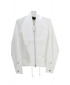 DIESEL BLACKGOLD(ディーゼルブラックゴールド)の古着「ジップブルゾン」|ホワイト