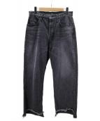 IROQUOIS(イロコイ)の古着「12OZ 1/3デニムパンツ」 ブラック