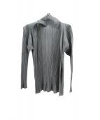PLEATS PLEASE(プリーツ プリーズ)の古着「プリーツカーディガン」|グレー