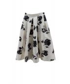 CELFORD(セルフォード)の古着「トーン花柄スカート」|ホワイト