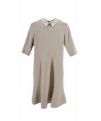 CELFORD(セルフォード)の古着「襟付きワンピース」|アイボリー
