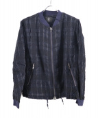 bukht(ブフト)の古着「チェックブルゾン」|ネイビー