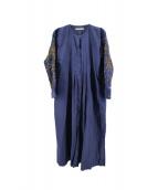 NE QUITTEZ PAS!(ヌキテパ)の古着「Poplin Bijoux Tuck Long Dress」