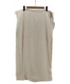 FUMIKA UCHIDA(フミカ ウチダ)の古着「シルク混ラップスカート」