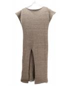 FUMIKA UCHIDA(フミカ ウチダ)の古着「SLIT DRESS」|ブラウン
