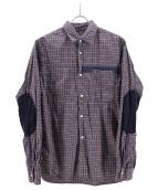 JUNYA WATANABE CDG(ジュンヤワタナベ・コムデギャルソン)の古着「切替シャツ」 ネイビー