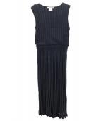 MARILYN MOON(マリリンムーン)の古着「ノースリーブニットワンピース」|ブラック