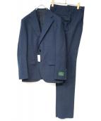 STRASBURGO(ストラスブルゴ)の古着「ピンヘッドチェックスーツ」|ネイビー
