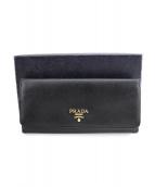 PRADA(プラダ)の古着「長財布」|ネイビー