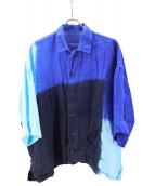 ISSEY MIYAKE MEN(イッセイ ミヤケ メン)の古着「半袖シャツ」|ブルー