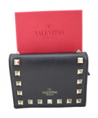 VALENTINO GARAVANI(ヴァレンティノ・ガラヴァーニ)の古着「2つ折り財布」|ブラック
