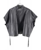 DIESEL BLACK GOLD(ディーゼル ブラック ゴールド)の古着「レザーポンチョジャケット」