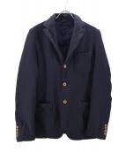COMME des GARCONS HOMME DEUX(コムデギャルソンオムデュー)の古着「縮絨ジャケット」|ネイビー
