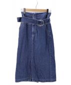 CURRENTAGE(カレンテージ)の古着「デニムスカート」|インディゴ