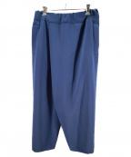 NO CONTROL AIR(ノーコントロールエアー)の古着「ドビーブッチャーラップパンツ」|ブルー