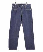 LEVIS VINTAGE CLOTHING(リーバイス ヴィンテージ クロージング)の古着「66復刻リジットデニム」 インディゴ
