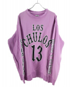 WILLY CHAVARRIA(ウィリーチャバリア)の古着「ロゴスウェット」|パープル